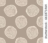 tree rings seamless vector... | Shutterstock .eps vector #661871464