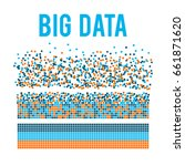 big data visualization. machine ... | Shutterstock .eps vector #661871620