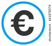 euro symbol rounded icon.... | Shutterstock .eps vector #661878574