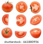 a slice tomato isolated | Shutterstock . vector #661880956