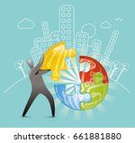 innovation puzzle | Shutterstock .eps vector #661881880