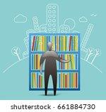 city library | Shutterstock .eps vector #661884730