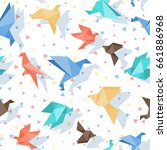 colorful seamless pattern with... | Shutterstock .eps vector #661886968