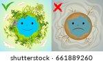 ecology cartoon comparative...   Shutterstock .eps vector #661889260
