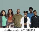 group of african descent people ...   Shutterstock . vector #661889314