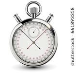 stopwatch  vintage chrome clock ... | Shutterstock .eps vector #661893358