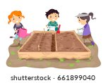 illustration of stickman kids... | Shutterstock .eps vector #661899040