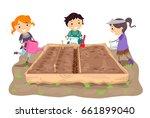 illustration of stickman kids... | Shutterstock .eps vector #661899040