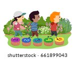 illustration of stickman kids... | Shutterstock .eps vector #661899043