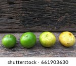limes in different phase of its ... | Shutterstock . vector #661903630
