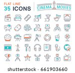 set of line icons  sign and... | Shutterstock . vector #661903660