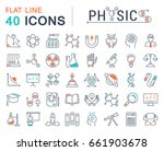 set line icons  sign and... | Shutterstock . vector #661903678