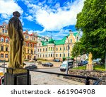 city square in vyborg city ... | Shutterstock . vector #661904908