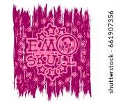 vector illustration pink shabby ... | Shutterstock .eps vector #661907356