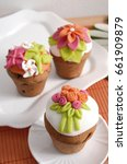 Cupcake Decorated With Mastic...