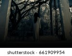 scary ghost woman in haunted... | Shutterstock . vector #661909954