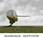 climate change denier concept... | Shutterstock . vector #661911928