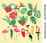 vector tropical set of tropical ... | Shutterstock .eps vector #661919668