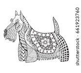 scottish terrier dog zentangle... | Shutterstock .eps vector #661923760