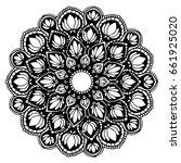 mandalas for coloring book.... | Shutterstock .eps vector #661925020