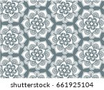 mandala pattern. ethnic... | Shutterstock .eps vector #661925104
