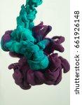 colors ink drops in water  | Shutterstock . vector #661926148