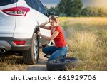 sad woman got confused about... | Shutterstock . vector #661929706