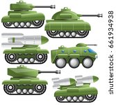 a set of military equipment.... | Shutterstock .eps vector #661934938