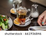 tea ceremony in the cafe | Shutterstock . vector #661936846