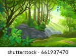 the path across a dense jungle... | Shutterstock .eps vector #661937470