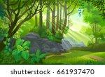 the path across a dense jungle... | Shutterstock .eps vector #661937470