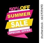summer sale banner. vector... | Shutterstock .eps vector #661939690