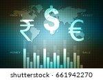 stock market graph and bar... | Shutterstock . vector #661942270