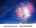 fireworks display on 4th of... | Shutterstock . vector #661944184