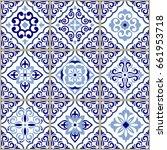 vintage seamless pattern in...   Shutterstock .eps vector #661953718