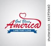 Lettering God Bless America ...