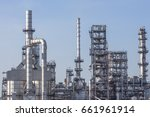 refinery tower in petrochemical ... | Shutterstock . vector #661961914