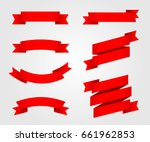 ribbon vector icon red color on ... | Shutterstock .eps vector #661962853