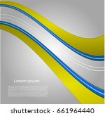 abstract background with bright ... | Shutterstock .eps vector #661964440