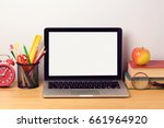 back to school background with... | Shutterstock . vector #661964920