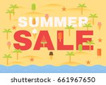 summer sale background | Shutterstock .eps vector #661967650
