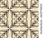 abstract ornamental floral... | Shutterstock .eps vector #661976014