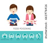 boy and girl stomachache...   Shutterstock .eps vector #661976416