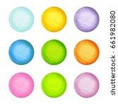 colorful watercolor vector... | Shutterstock .eps vector #661982080