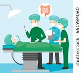 surgeon operate on appendicitis ... | Shutterstock .eps vector #661984060