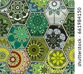 luxury oriental tile seamless... | Shutterstock .eps vector #661984150