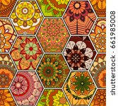 luxury oriental tile seamless... | Shutterstock .eps vector #661985008