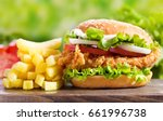 Chicken Burger With French...