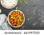 chickpea curry with basmati... | Shutterstock . vector #661997020