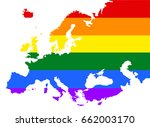 europe pride gay vector map... | Shutterstock .eps vector #662003170